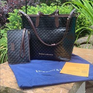 Dooney & Bourke Embossed Basket-Weave Shopper/Tote